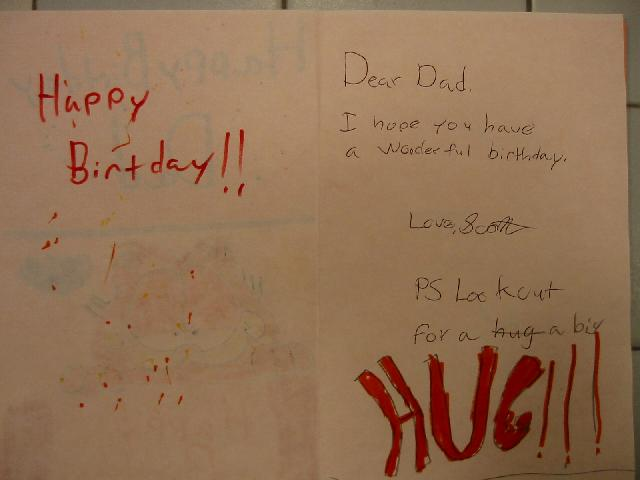 Image Of Inside Scotts Birthday Card For Dad