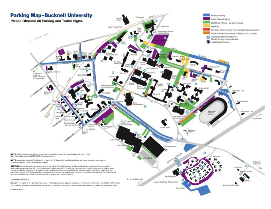 Susquehanna Campus Map.2012 Susquehanna River Symposium Parking